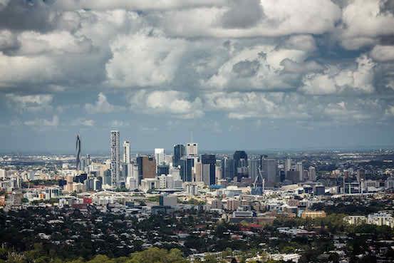 Brisbane, Australia - skyline of a contemporary skyscraper city